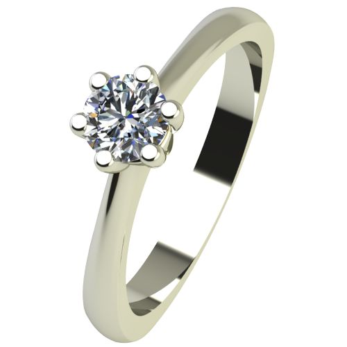 Годежен Пръстен бяло злато с диамант Piece 0,12 ct. 2494