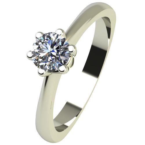 Годежен Пръстен бяло злато с диамант Piece 0,17 ct. 2495