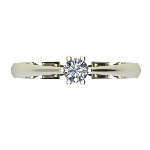 Годежен Пръстен бяло злато с диамант Piece 0,25 ct. 2496 a