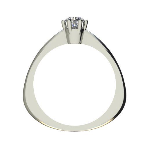Годежен Пръстен бяло злато с диамант Piece 0,25 ct. 2496 b