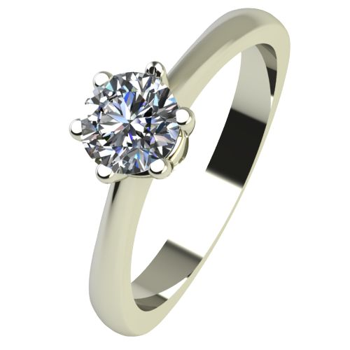 Годежен Пръстен бяло злато с диамант Piece 0,25 ct. 2496