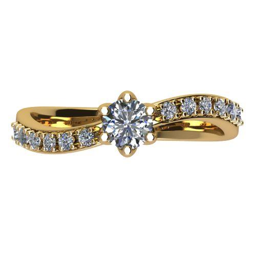 Годежен Пръстен жълто злато с диамант Edge 0,35 ct. 2490 a