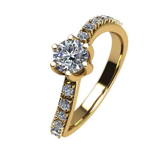 Годежен Пръстен жълто злато с диамант Edge 0,35 ct. 2490