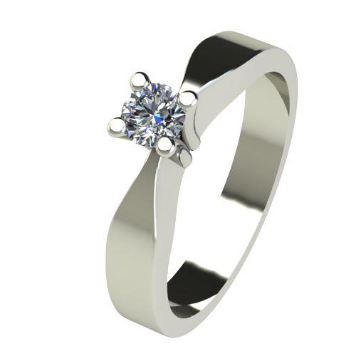 Годежен Пръстен бяло злато с диамант Cante 0,12 ct. 2507