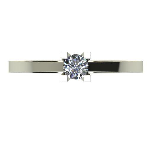 Годежен Пръстен бяло злато с диамант Piece 0,12 ct. 2504 a