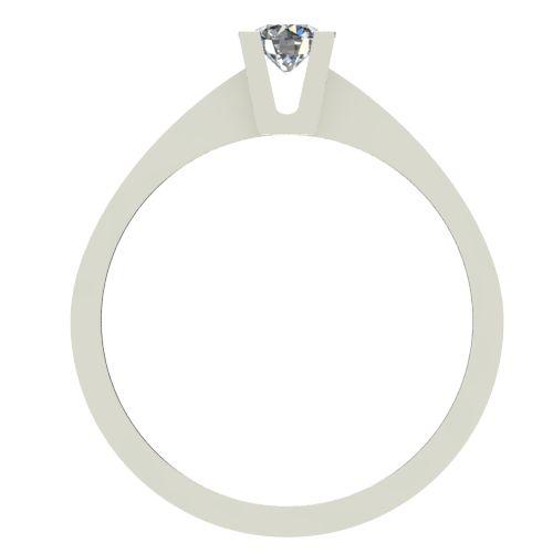 Годежен Пръстен бяло злато с диамант Piece 0,12 ct. 2504 b