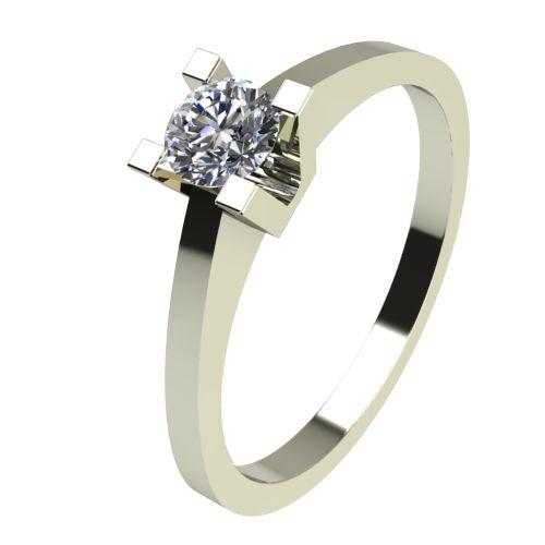 Годежен Пръстен бяло злато с диамант Piece 0,12 ct. 2504