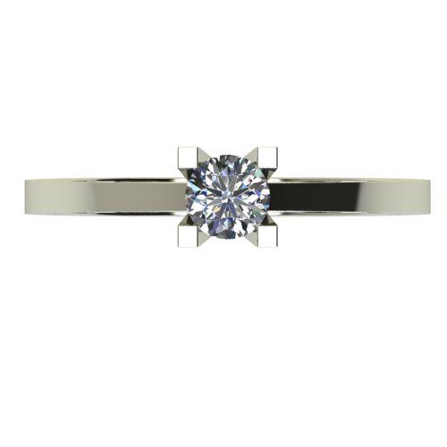 Годежен Пръстен бяло злато с диамант Piece 0,17 ct. 2505 a