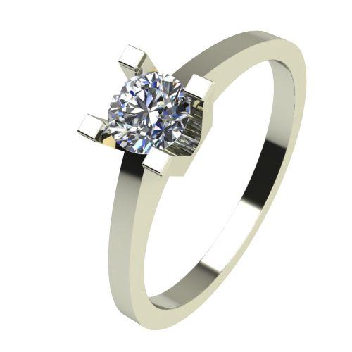 Годежен Пръстен бяло злато с диамант Piece 0,17 ct. 2505