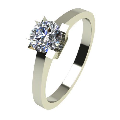 Годежен Пръстен бяло злато с диамант Piece 0,25 ct. 2506