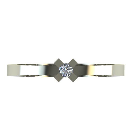 Годежен Пръстен бяло злато с диамант Cante 0,04 ct. 2515 a