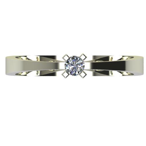 Годежен Пръстен бяло злато с диамант Cante 0,04 ct. 2530 a