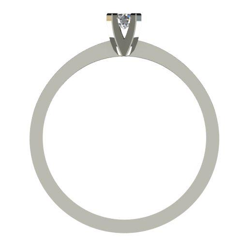 Годежен Пръстен бяло злато с диамант Cante 0,04 ct. 2530 b