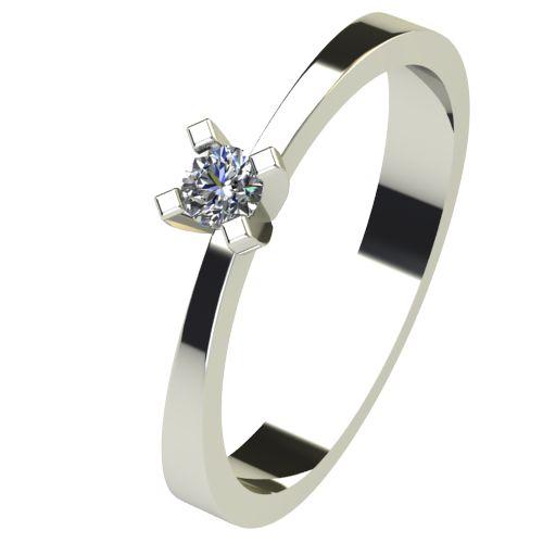 Годежен Пръстен бяло злато с диамант Cante 0,04 ct. 2530
