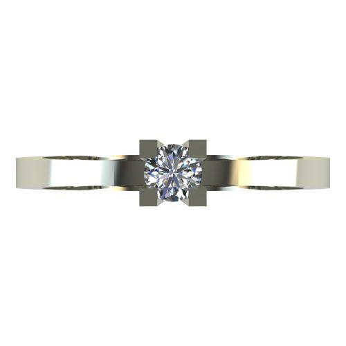 Годежен Пръстен бяло злато с диамант Cante 0,07 ct. 2511 a