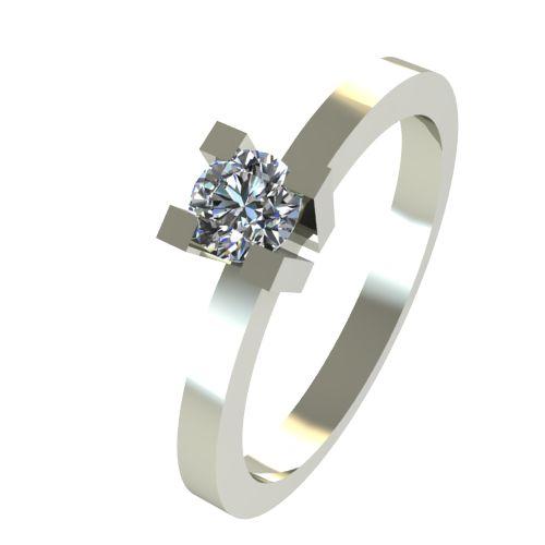 Годежен Пръстен бяло злато с диамант Cante 0,07 ct. 2511