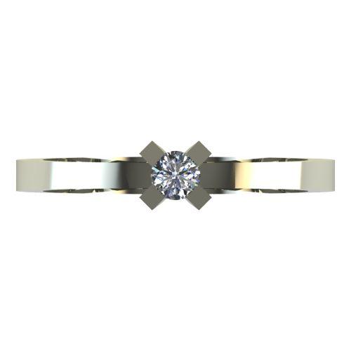 Годежен Пръстен бяло злато с диамант Cante 0,07 ct. 2516 a