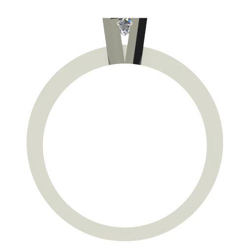 Годежен Пръстен бяло злато с диамант Cante 0,07 ct. 2516 b