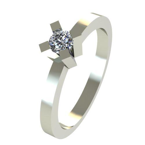 Годежен Пръстен бяло злато с диамант Cante 0,07 ct. 2516