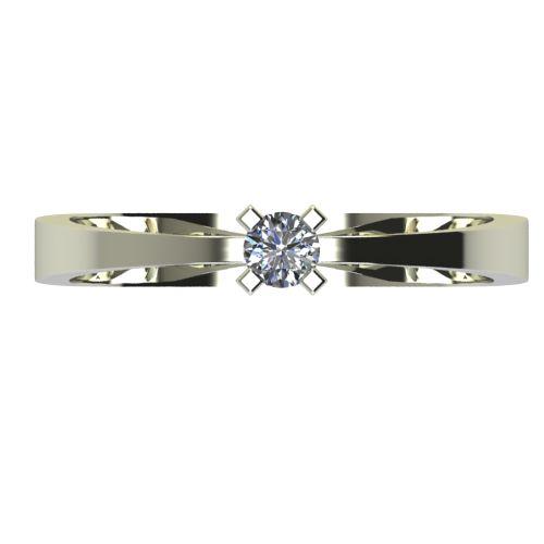 Годежен Пръстен бяло злато с диамант Cante 0,07 ct. 2531 a