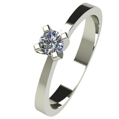 Годежен Пръстен бяло злато с диамант Cante 0,07 ct. 2531
