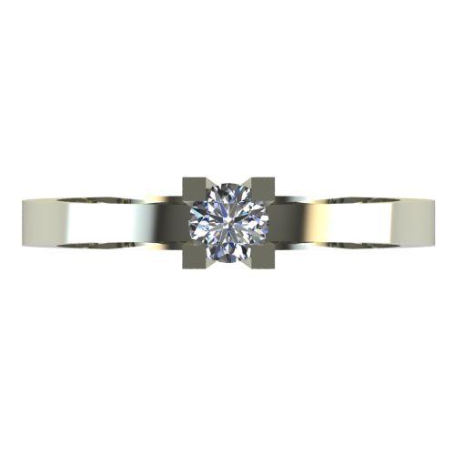 Годежен Пръстен бяло злато с диамант Cante 0,12 ct. 2512 a