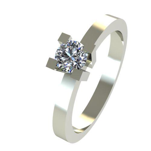 Годежен Пръстен бяло злато с диамант Cante 0,12 ct. 2512