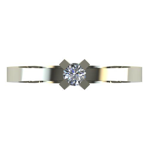 Годежен Пръстен бяло злато с диамант Cante 0,12 ct. 2517 a