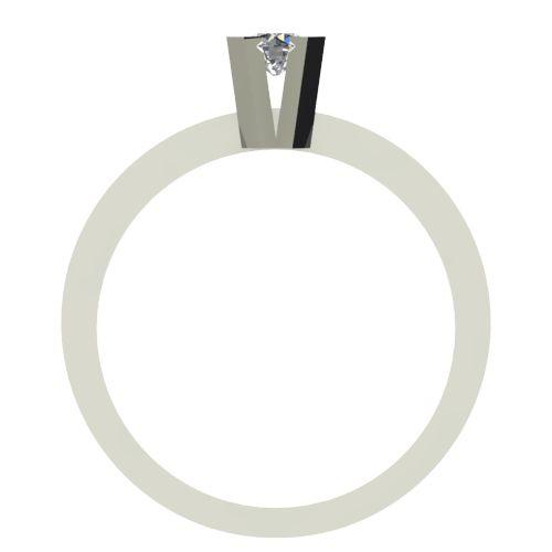 Годежен Пръстен бяло злато с диамант Cante 0,12 ct. 2517 b