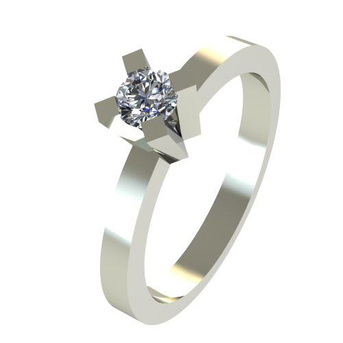 Годежен Пръстен бяло злато с диамант Cante 0,12 ct. 2517