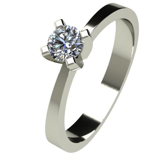 Годежен Пръстен бяло злато с диамант Cante 0,12 ct. 2532
