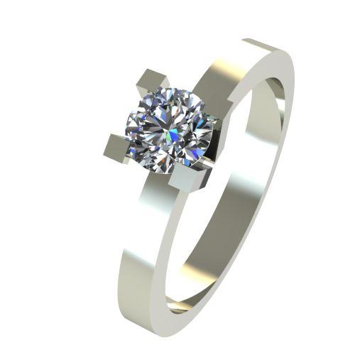 Годежен Пръстен бяло злато с диамант Cante 0,17 ct. 2513
