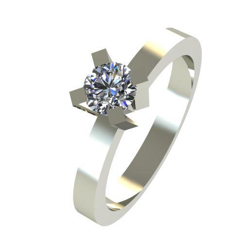 Годежен Пръстен бяло злато с диамант Cante 0,17 ct. 2518