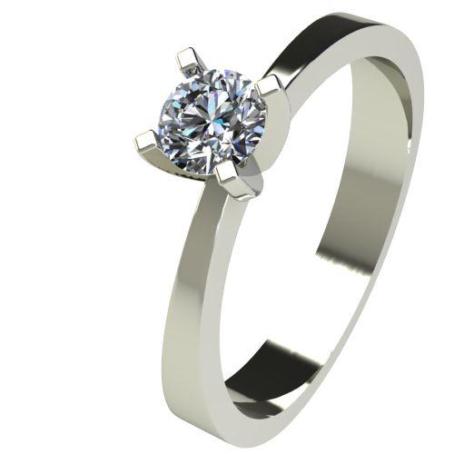 Годежен Пръстен бяло злато с диамант Cante 0,17 ct. 2533