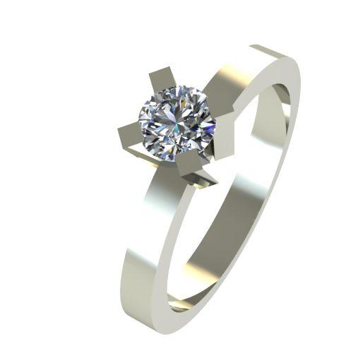 Годежен Пръстен бяло злато с диамант Cante 0,25 ct. 2519