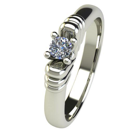 Годежен Пръстен бяло злато с диамант Garland 0,12 ct. 2543