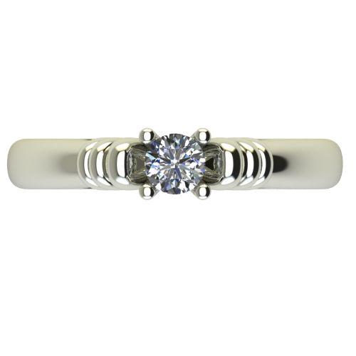 Годежен Пръстен бяло злато с диамант Garland 0,17 ct. 2544 a