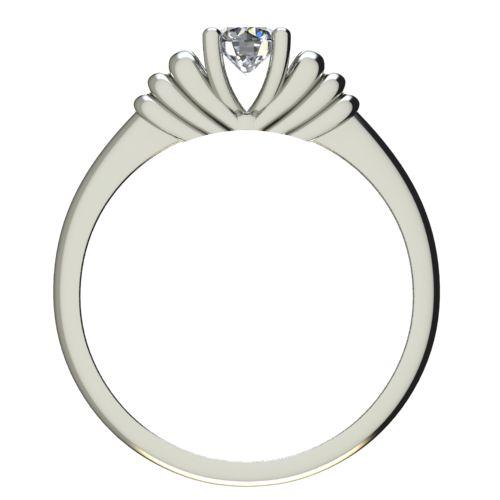 Годежен Пръстен бяло злато с диамант Garland 0,17 ct. 2544 b