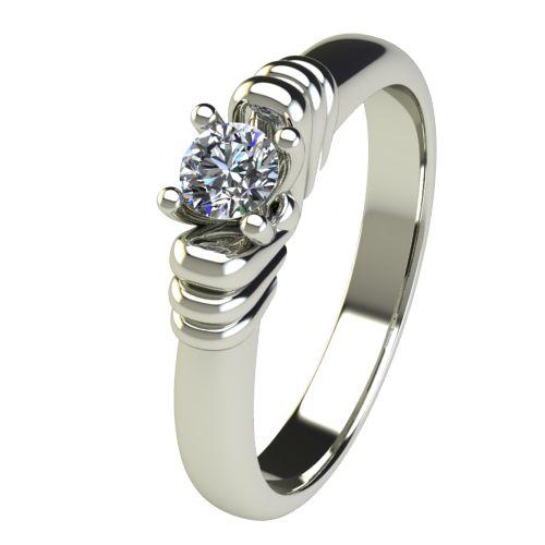 Годежен Пръстен бяло злато с диамант Garland 0,17 ct. 2544