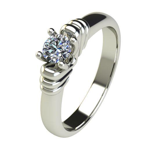 Годежен Пръстен бяло злато с диамант Garland 0,25 ct. 2545