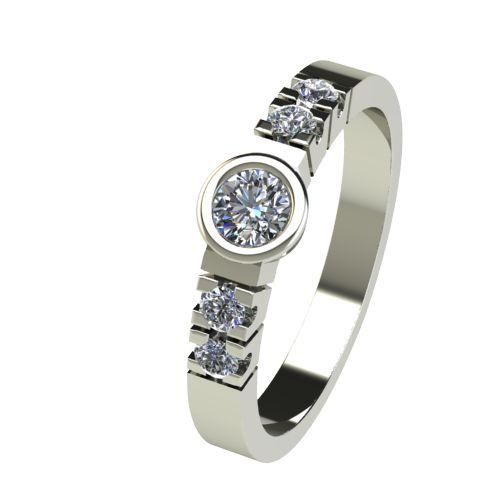 Годежен Пръстен бяло злато с диамант Moon 0,20 ct. 2539