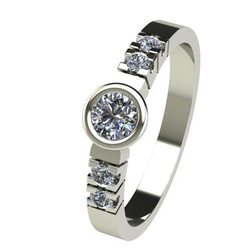 Годежен Пръстен бяло злато с диамант Moon 0,25 ct. 2540