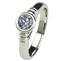 Годежен Пръстен бяло злато с диамант Moon 0,25 ct. 2542