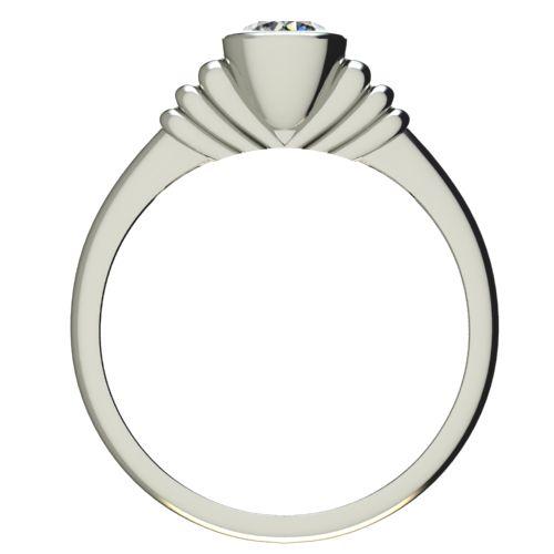 Годежен Пръстен бяло злато с диамант Moon 0,25 ct. 2542 b