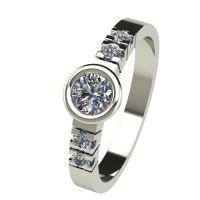 Годежен Пръстен бяло злато с диамант Moon 0,33 ct. 2541