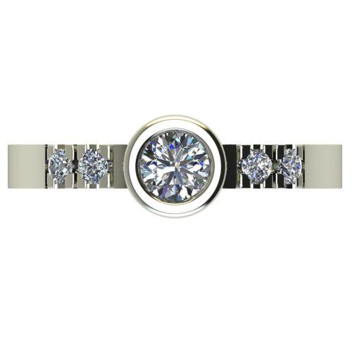 Годежен Пръстен бяло злато с диамант Moon 0,33 ct. 2541 a