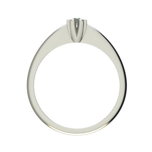 Годежен Пръстен бяло злато с диамант Piece 0,04 ct. 2520 b