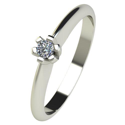 Годежен Пръстен бяло злато с диамант Piece 0,04 ct. 2520