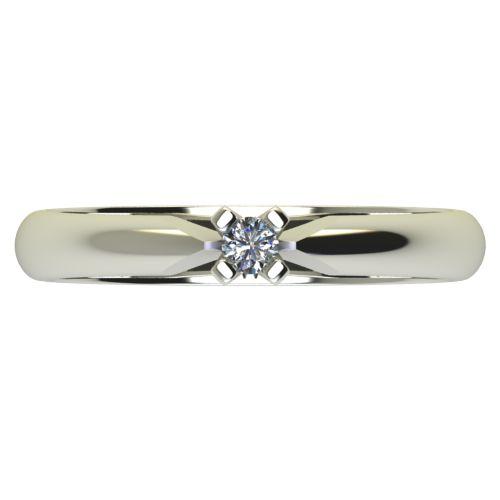 Годежен Пръстен бяло злато с диамант Piece 0,04 ct. 2525 a