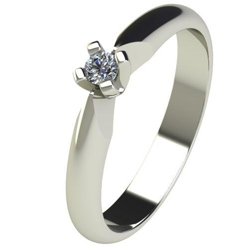 Годежен Пръстен бяло злато с диамант Piece 0,04 ct. 2525